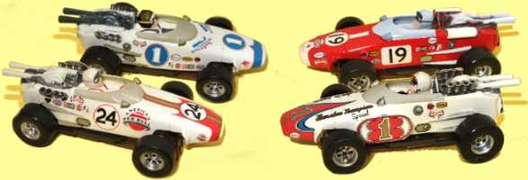 Road Race Replicas - H O  Slot cars!