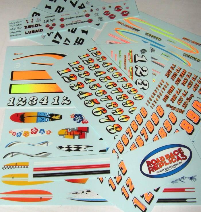 Hot Pepper Racing Set Aurora Plastics Decals Kit #1752-113